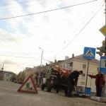 На новые знаки пешеходного перехода в Карпинске истратили 186 тысяч рублей