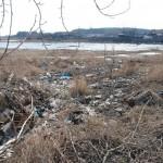 Молодежь решила очистить берега карьера от мусора