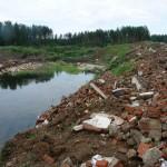 За Карпинском появилась несанкционированная свалка строительных отходов