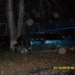 Бесправный водитель в Карпинске врезался в тополь