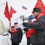 Митинг посвящёный годовщине Октябрьской революции