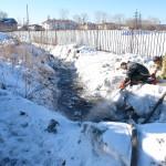 В Карпинске затопило дома №№ 58 и 60 по улице Коммунаров