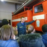 В пожарной части Карпинска прошла экскурсия