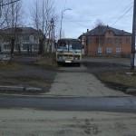 Водитель припарковавший неправильно автобус получил штраф