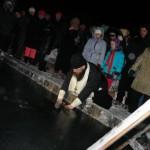 В праздновании Крещения в Карпинске приняли участие более 100 человек