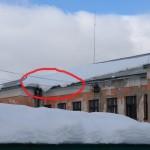 Это детский сад по Свердлова. Снег может рухнуть в любую секунду