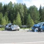 На североуральской трассе случилась авария. Два человека погибли