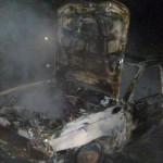 В Карпинске сгорела отечественная легковушка