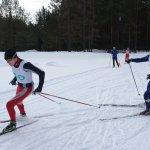 Карпинские лыжники попали в десятку лучших на областном первенстве