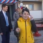 Сергей Бидонько поздравляет новоселов дома 113 по ул. Советской. ВИДЕО