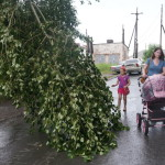 В Карпинске из-за сильного ветра нет света в старой части города