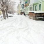 Город и снег. Первый пошел