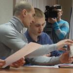 Игорь Первухин объясняет новым депутатам про печать