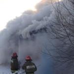 Вся улица была охвачена дымом