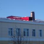 Почищена лишь часть крыши стационара ЦГБ