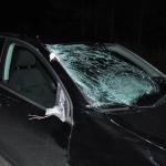 На дороге у  Карпинска на эксперта полиции наехал пьяный водитель. Полицейский в больнице