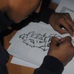 Граффити рисовали не только на стене, но и на листах бумаги