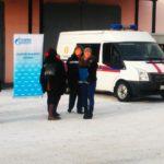 """На фоне этого плаката то и дело собирались работники """"ГАЗЭКСа"""" - фотографировались"""