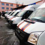 Машины аварийно-диспетчерской службы из разных городов Свердловской области