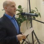С поздравительным словом выступает ветеран боевых действий в Чеченской республике Николай Зубанов