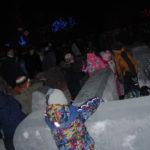 Детишки облюбовали и традиционный ледовый лабиринт