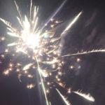 В завершении праздника в небе загромыхал фейерверк