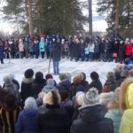 Всего на митинге собралось около 200 человек