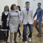 В начале мероприятия классные руководители зашли в актовый зал в сопровождении своих учеников