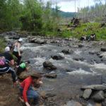 Многие участники останавливались здесь, чтобы сфотографироваться на красивом фоне горной реки