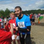 На финише спортсменов встречали волонтеры
