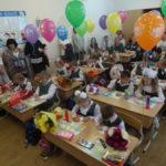 Кабинеты первоклассников были празднично украшены воздушными шарами