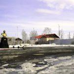"""Площадь угольщиков располодена на борту бывшего разреза. Там очень красивый вид. Фото: архив """"Вечерний Карпинск"""""""