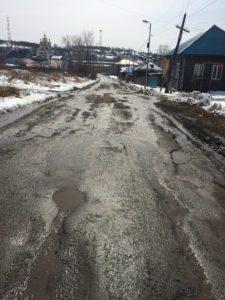 На участке улицы луначарского, ведушего к храму, нет даже тротуаров. Зато есть большое количество ям...