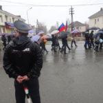Сотрудники полиции стояли на каждом перекрестке