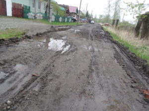 Улица Пушкина вся в ямах