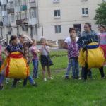 Для детей проводились веселые старты
