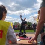 Победителем в поднятии гири в очередной раз стал Олег Лапаев