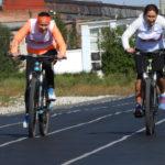 На финишной прямой девушки сравнялись и пересекли черту с разницей в доли секунды